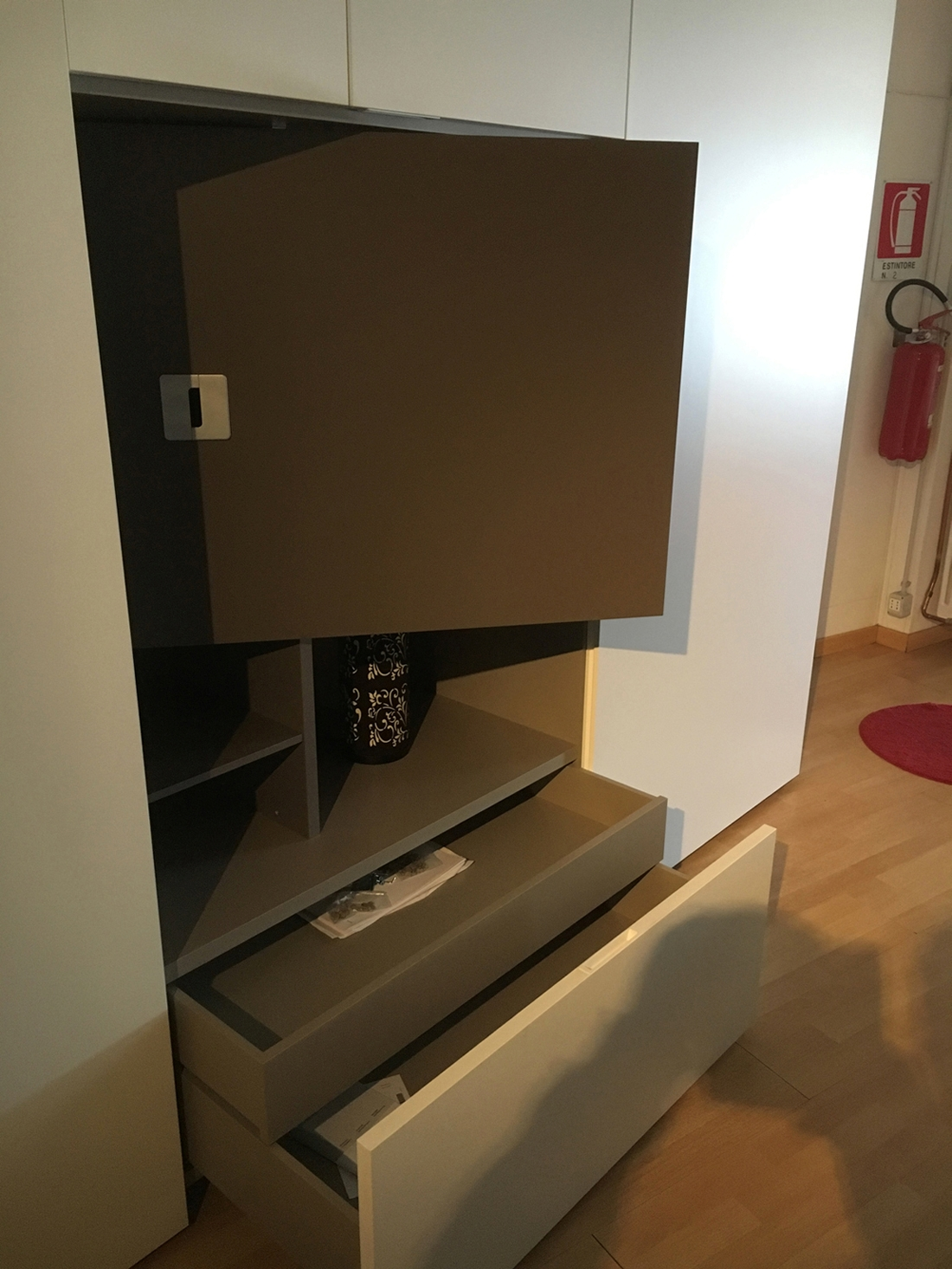 Caccaro Armadio Mod. flat Moderno Laccato Opaco Ante ...