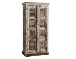 Nuovi Mondi Cucine Armadio Stipo armadio bridge in legno noce indiano offerta intarsiato vecchie porte