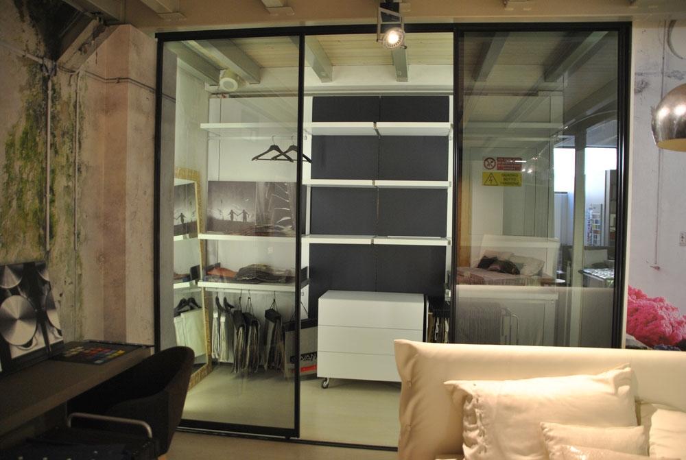 Occasione cabina armadio bianca attrezzata scontata del 40 for Cabina armadio outlet