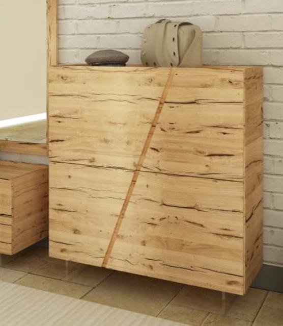 Scarpiera in legno massello rovere scontato -46% - Armadi a prezzi ...