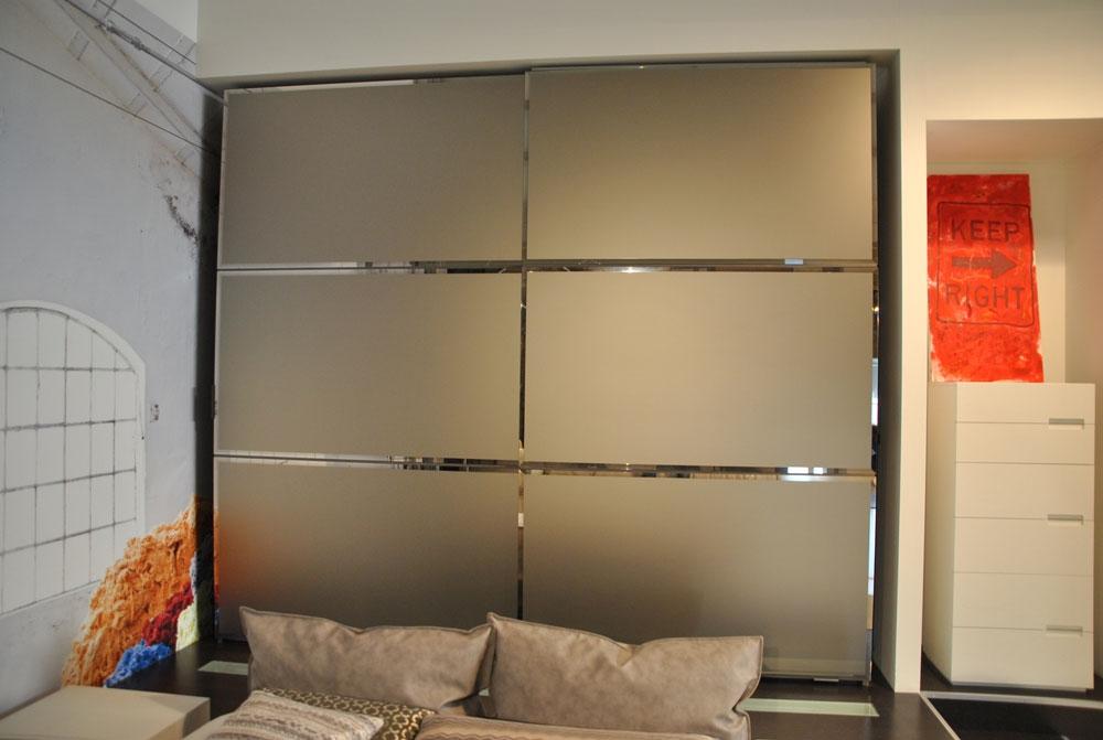 Promozione armadio a due ante scorrevoli finitura specchio - Armadio ante scorrevoli a specchio ...