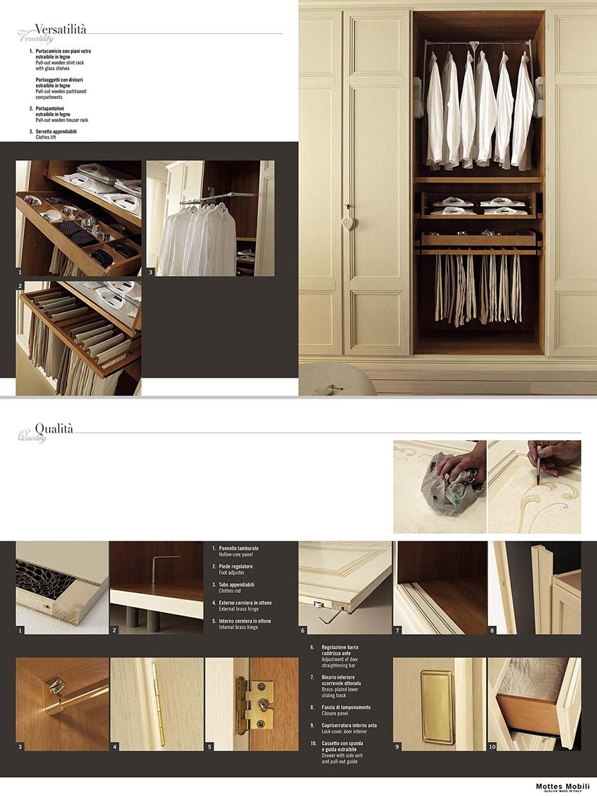 San michele armadio classico in legno dea noce armadi a for Stima del costo dell armadio