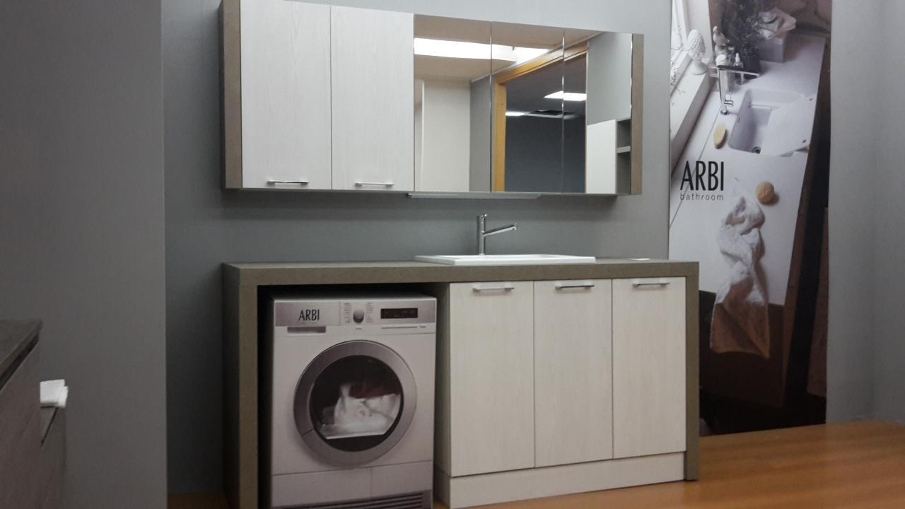 Mobile lavanderia arbi bolle laminato arredo bagno a - Arredo per lavanderia di casa ...