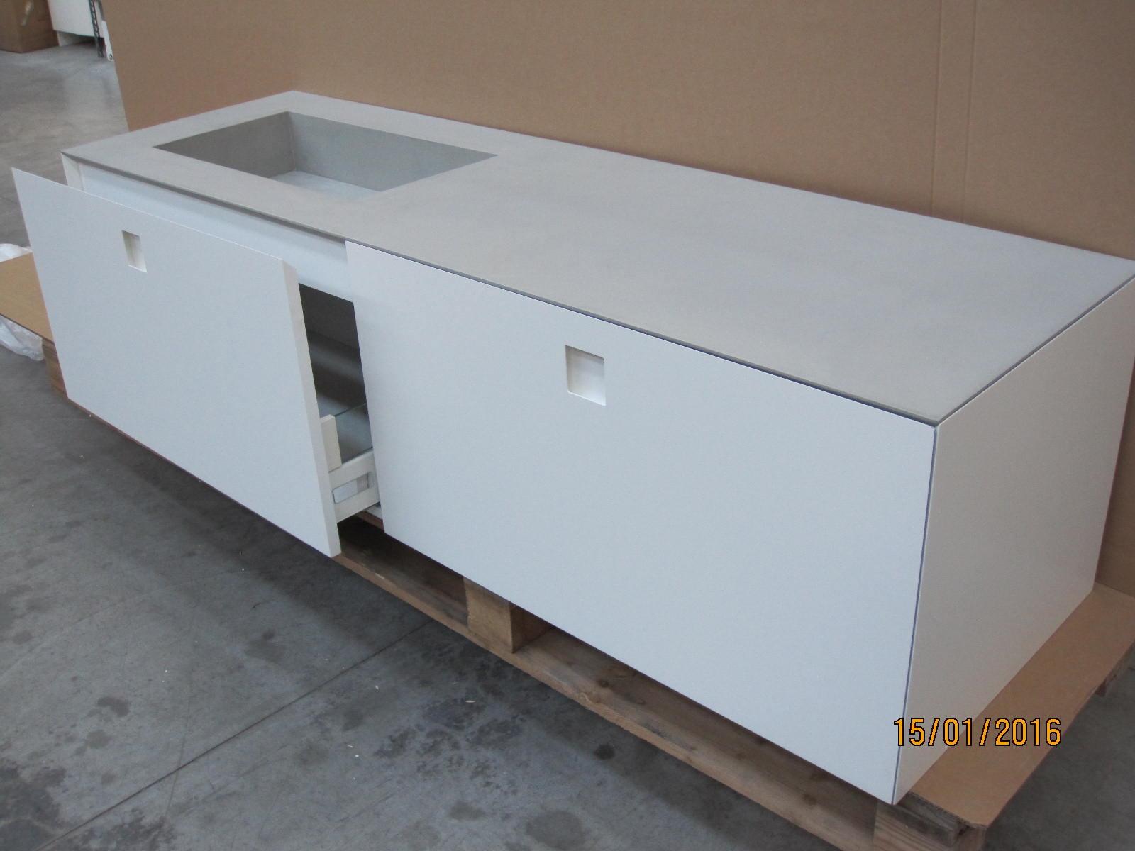 arlex kube bianco opaco moderno laccato opaco sospeso - arredo ... - Arlex Arredo Bagno