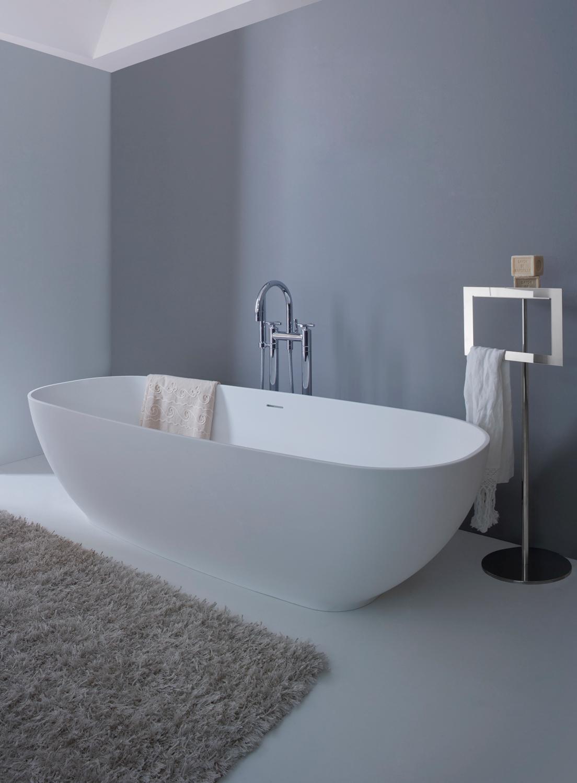 Arlex vasca da bagno freestanding in solid surface design - Vasca da bagno freestanding ...