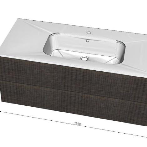 Arlex yumi tranche 39 moderno laminato sospeso arredo for Moderno bagno ranch