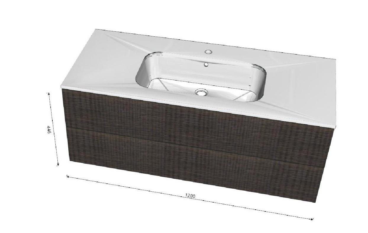 Arlex yumi tranche 39 moderno laminato sospeso arredo - Laminato per bagno leroy merlin ...