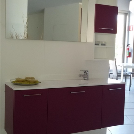 Arredoquattro bagno hope laccato moderno laccato opaco for Arredo bagno moderno sospeso