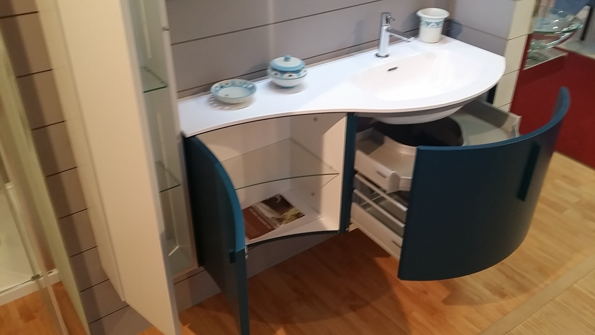 Azzurra bagni ducale classico legno a terra arredo bagno a prezzi scontati mobile bagno - Azzurra arredo bagno ...
