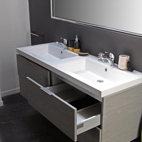 Compab bagno mod new york moderno laminato sospeso arredo bagno a prezzi scontati - Laminato in bagno ...