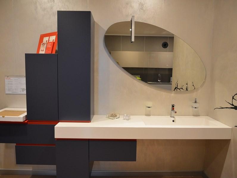 Mobile per bagno Laccato Opaco colore jeans - Arredo bagno a ...