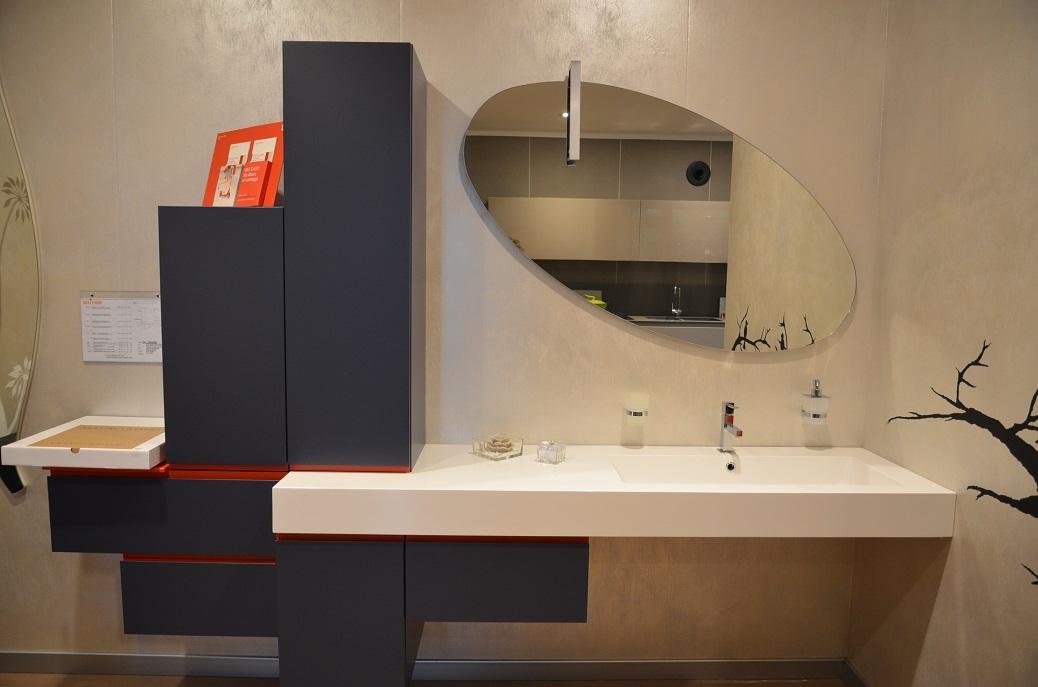 Mobile per bagno laccato opaco colore jeans arredo bagno for Mobili bagno on line scontati