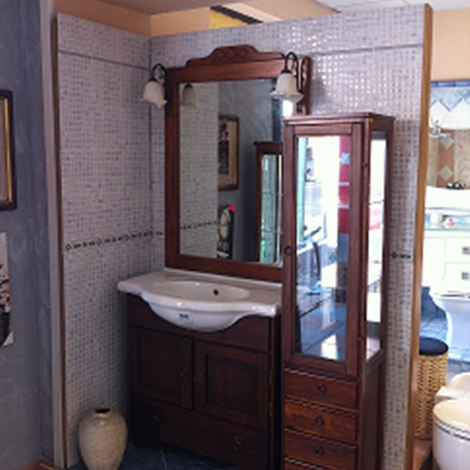 Mobiltesino artepovera classico legno arredo bagno a for Mobili bagno prezzi