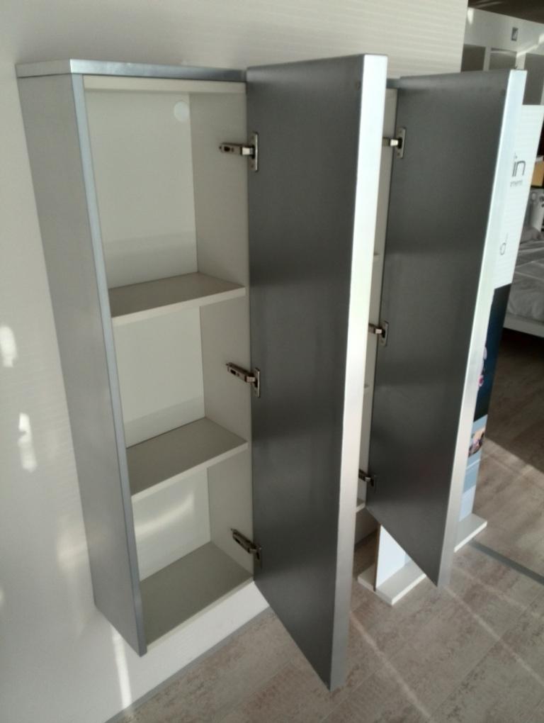 Mobile armadio modulnova fat foglia argento scontato del for Mobile armadio bagno