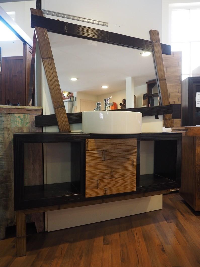 Nuovi mondi cucine composizione bagno in legnoe crash for Mobile bagno legno