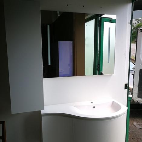 Puntotre mobile bagno con lavabo stondato arredo bagno a - Prezzi lavabo bagno con mobile ...