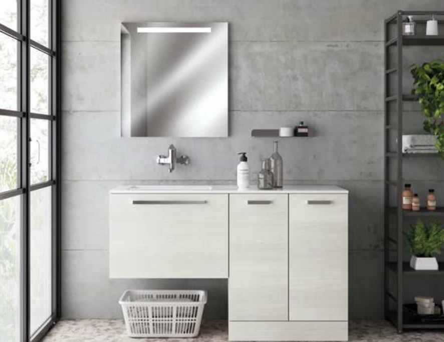 Scavolini Bathrooms Aquo Moderno Laccato Lucido Lavanderia - Arredo bagno a prezzi scontati