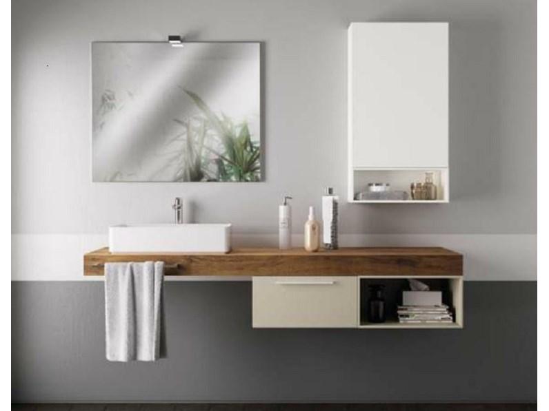 Scavolini Bathrooms Aquo Moderno Laccato Opaco Sospeso