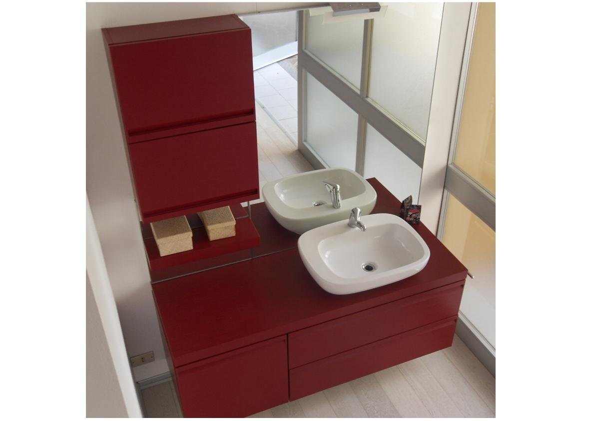 Arredo bagno arancione arredamento del bagno in muratura for Arredo bagno stock
