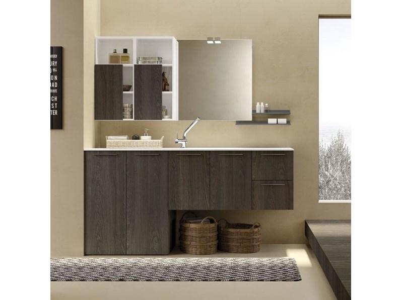 Arredamento bagno mobile archeda essenze a prezzo outlet for Arredo bagno design outlet