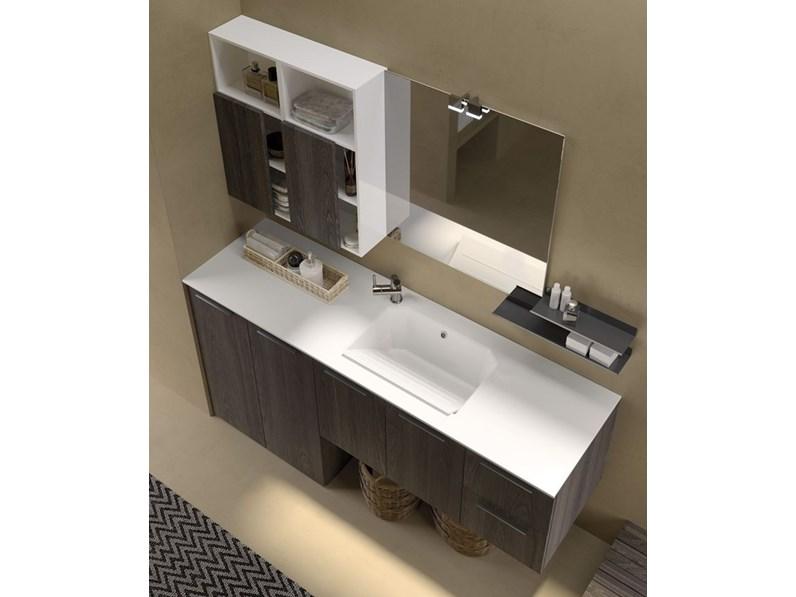 Arredamento bagno mobile archeda essenze a prezzo outlet for Prezzo mobile bagno