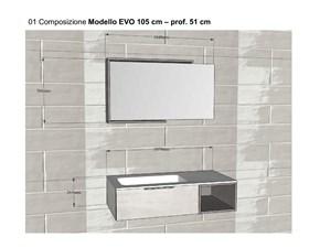 Arredamento bagno: mobile Artigianale Comp 01 a prezzo scontato