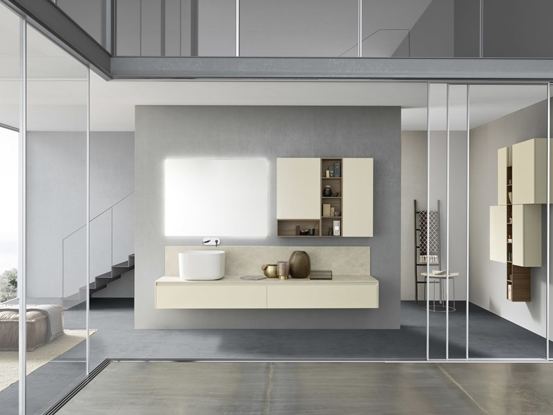 Arredamento bagno mobile azzurra bagni m2 system c208 in for Outlet mobili vicenza