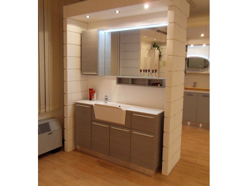 Arredamento bagno mobile compab f3 lavanderia con forte for Arredamento di marca scontato