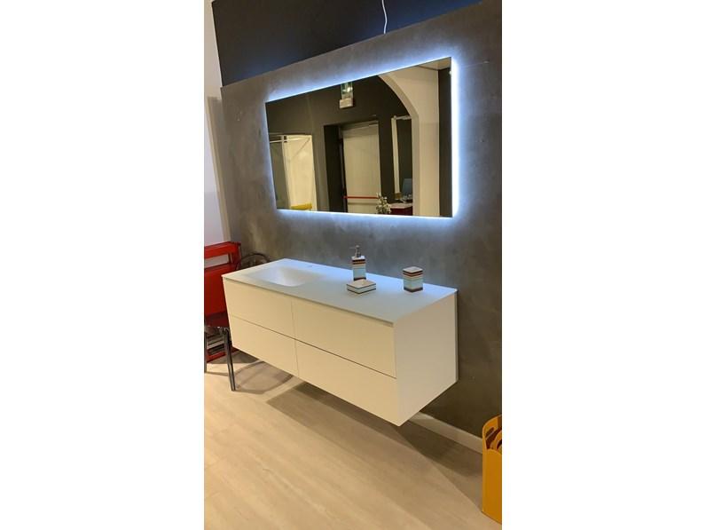 Arredamento bagno mobile cucine noventa bagno laccato opaco con top vetro in offerta for Arredo 3 srl legnago