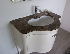 Arredamento bagno: mobile Euro bagno Armn bianco perlato con marmo marron emperador con forte sconto