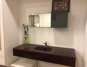 Arredamento bagno: mobile Lago in vetro con vasca integrata  con forte sconto