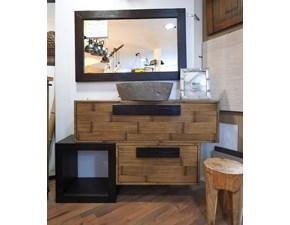 Arredamento bagno: mobile Nuovi mondi cucine Mobile bagno essential crash bambu e legno in offerta