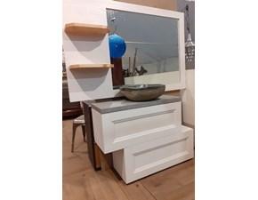 Arredamento bagno: mobile Nuovi mondi cucine Mobile bagno in legno essential white in offerta  a prezzo scontato