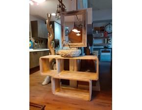 Arredamento bagno: mobile Nuovi mondi cucine Mobile bagno oval etnico in legno  a prezzo Outlet