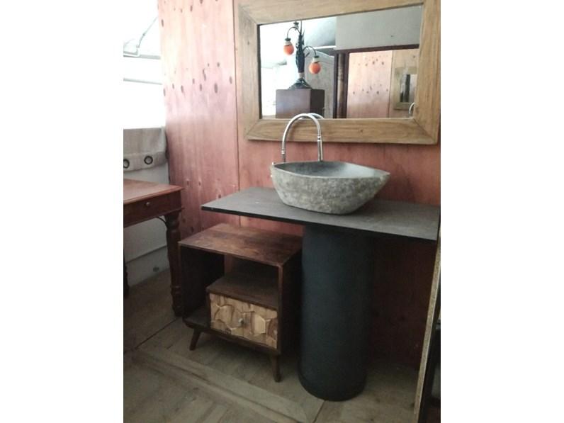 Arredamento bagno mobile outlet etnico bagno colonna ferro industrial style a prezzi outlet - Arredo bagno etnico ...