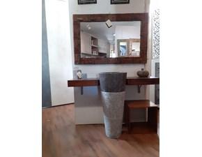 Arredamento bagno: mobile Outlet etnico Mobile bagno colonna garnito e piano legno netural design   a prezzo scontato