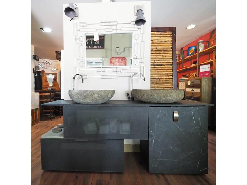 Arredamento Bagno Mobile Outlet Etnico Mobile Bagno Doppio Lavabo Stiloe Industrial A Prezzi Convenienti