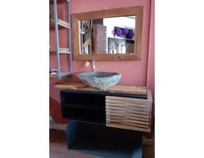 Arredamento bagno: mobile Outlet etnico Mobile bagno  industrile natural    a prezzo scontato