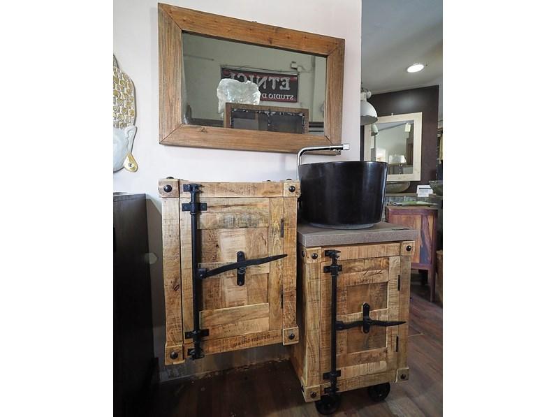 Arredamento bagno mobile outlet etnico mobile bagno legno for Arredamento in offerta