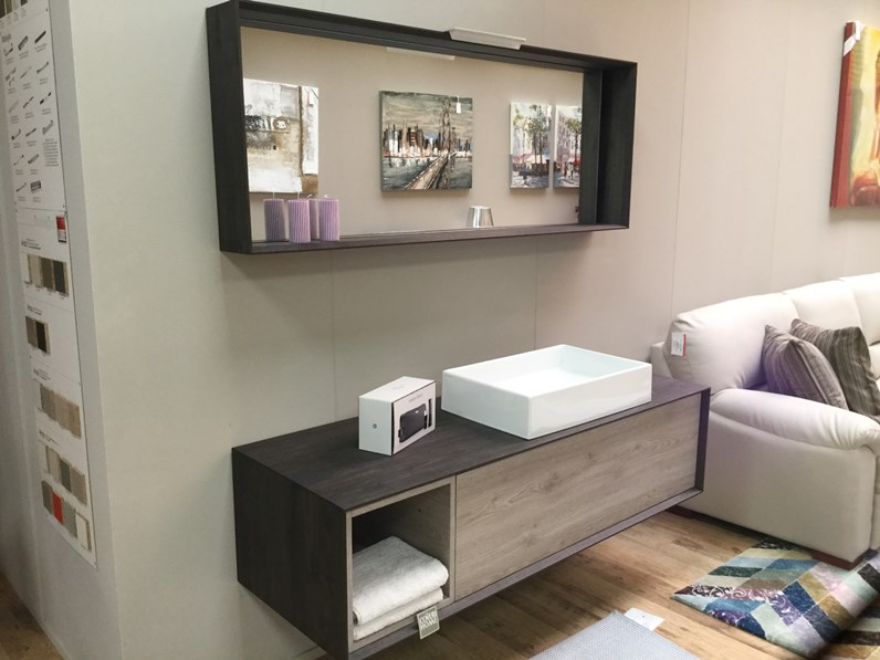 Arredamento bagno mobile punto tre moduladue a prezzo outlet for Arredo bagno outlet