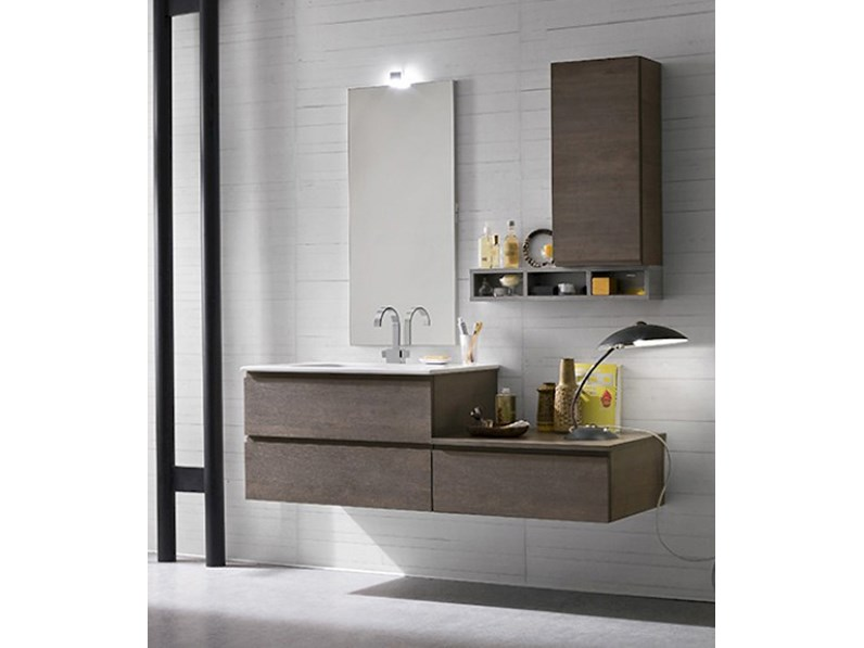 Arredamento bagno moderno mobile bagno sospeso compab in offerta