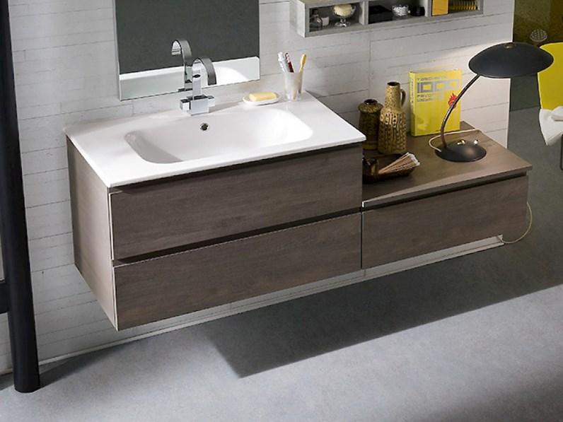 Arredamento bagno moderno mobile bagno sospeso compab in for Offerta mobili