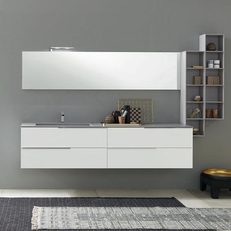 Arredo bagno con mobile sospeso e specchiera nuovo a for Nuovo arredo sansepolcro