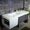 Mobile bagno consolle con ripiano tutto legno massello sessham wood in offerta arredo bagno a - Arredo bagno outlet torino ...