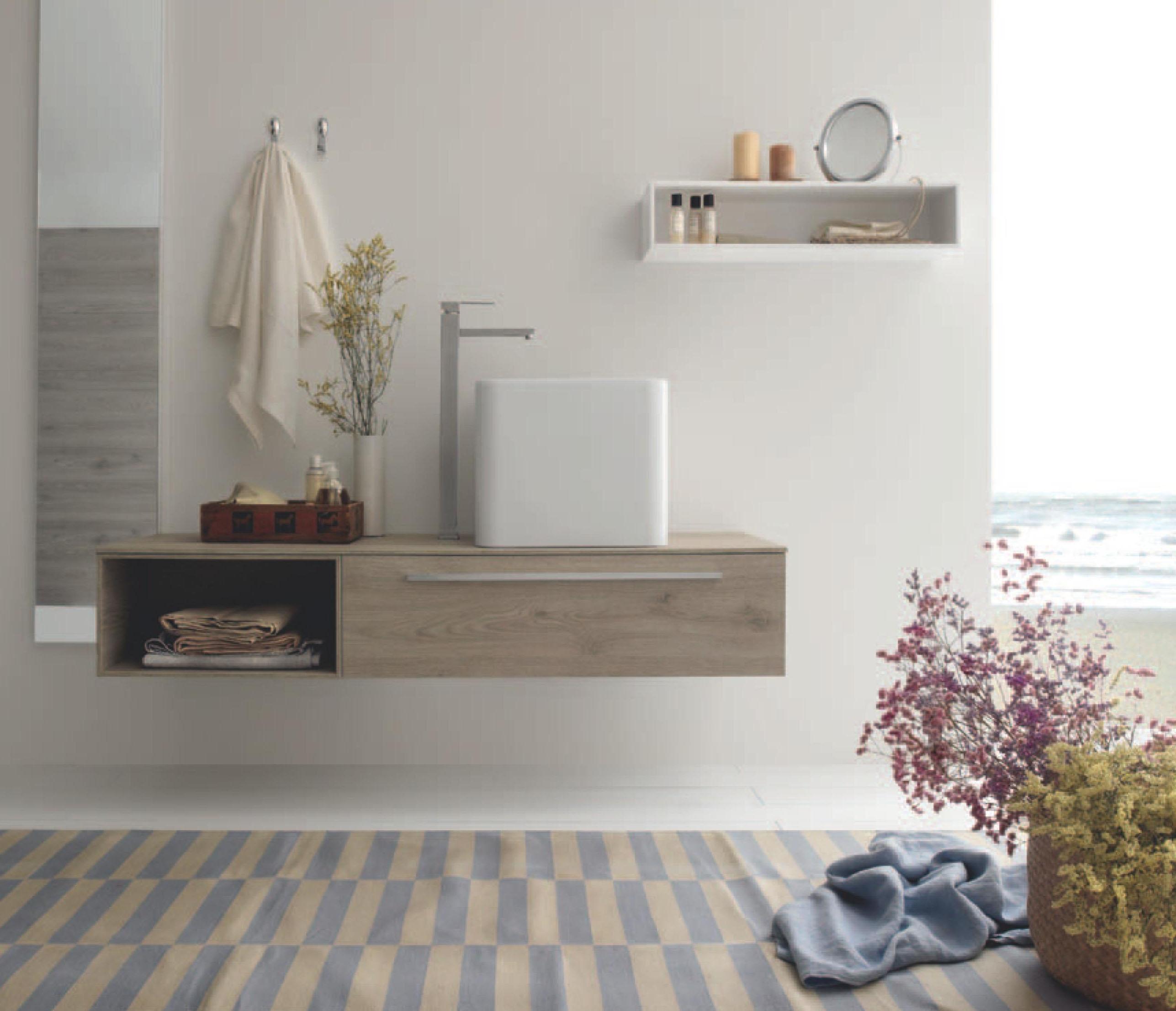 Mobili bagno legno massello 70cm for Arredo bagno genova