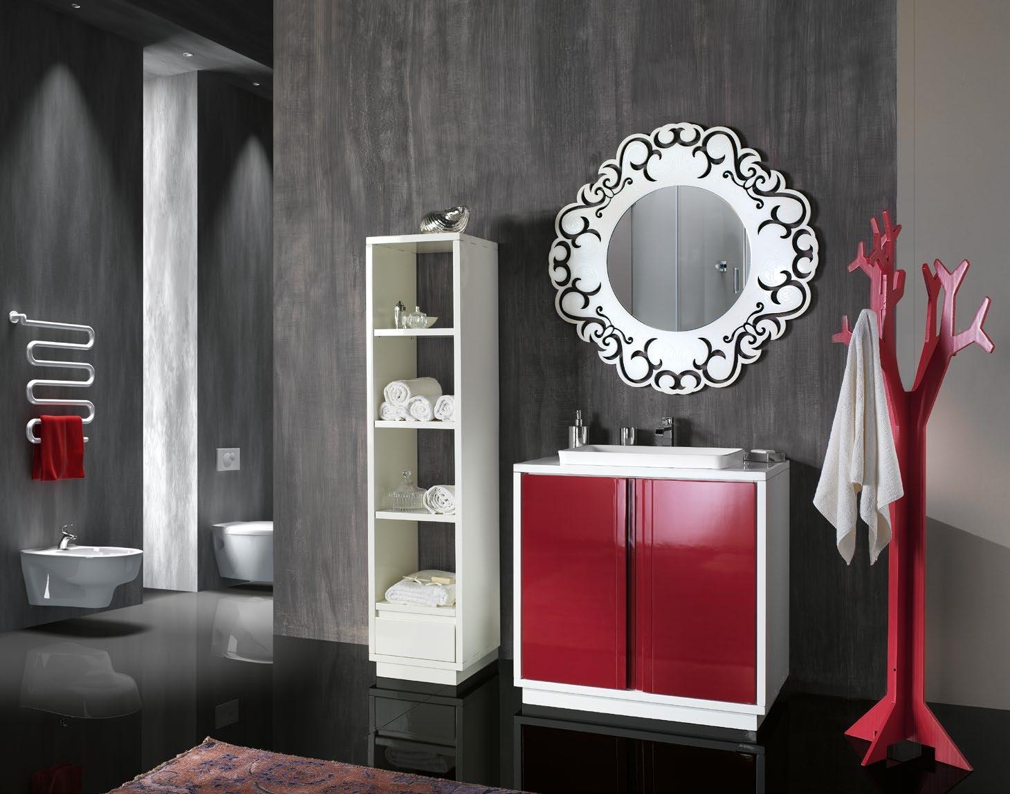 Arredo bagno mobile in legno laccato arredo bagno a for Arredo bagno in legno