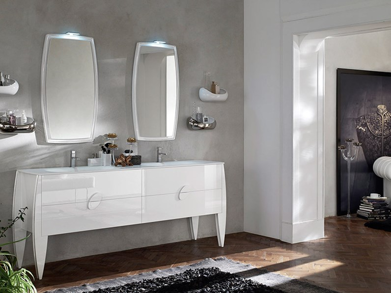 Arredo bagno moderno di ardeco modello glamour for Arredo bagno moderno sospeso