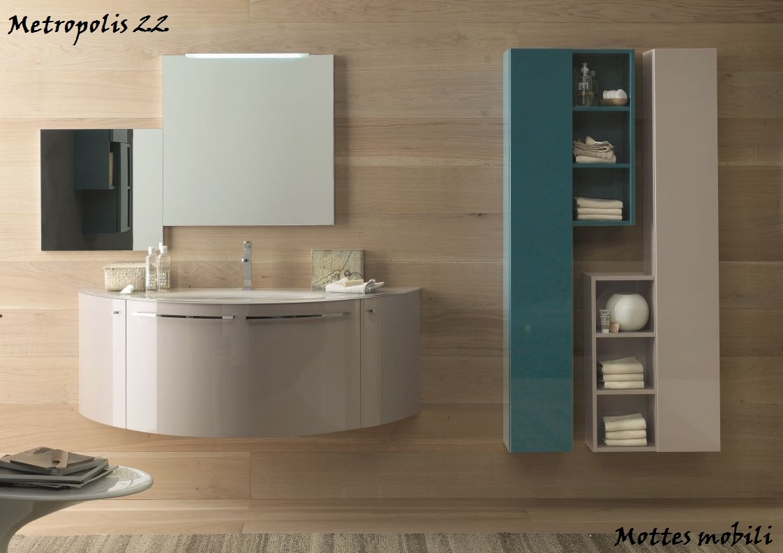 Arredo bagno personalizzabile i colori e venature a scelta for Finestre rotonde del bagno