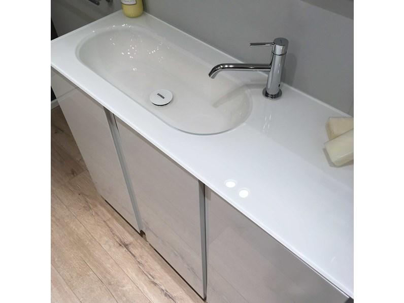 Arredo bagno scavolini lagu bianco lucido scontato - Bagno bianco lucido ...