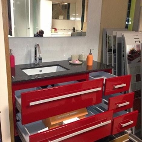 Mobiltesino Mobile da bagno laccato rosso Moderno Laccato Lucido ...